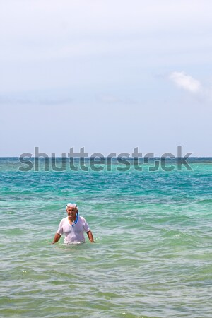 Senior Citizen Snorkeling in Tropical Waters Stock photo © ArenaCreative