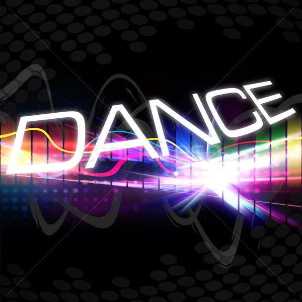 Funky Dance монтаж радуга графических Сток-фото © ArenaCreative
