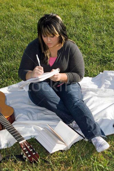 Musician Writing a Song Stock photo © ArenaCreative