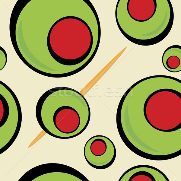 Green Olives Stock photo © ArenaCreative