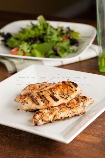 курица-гриль Салат подготовленный груди Ингредиенты Сток-фото © ArenaCreative