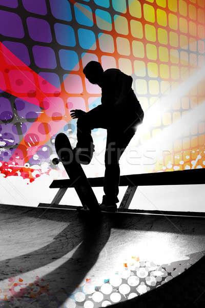 Abstract Skateboarder Stock photo © ArenaCreative