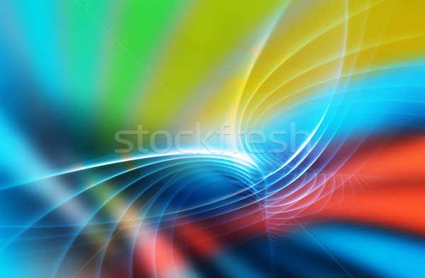 радуга фрактальный искусства аннотация дизайна Сток-фото © arenacreative