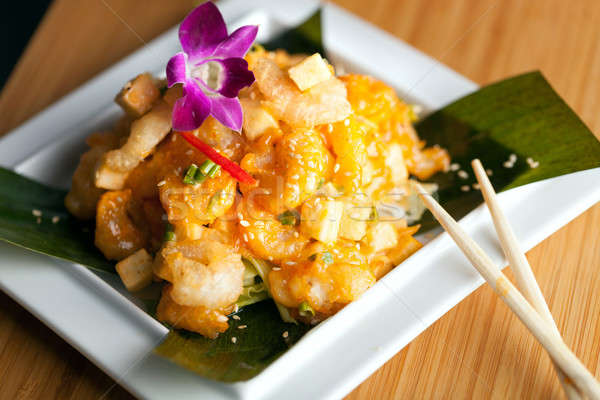 Tasty Tempura Thai Shrimp Plate Stock photo © ArenaCreative