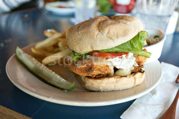 Fried Cod Sandwich Stock photo © arenacreative