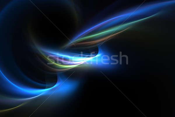 Stock fotó: Izzó · plazma · fraktál · elrendezés · terv · nagyszerű
