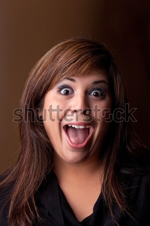 Crazy Girl Screaming Stock photo © ArenaCreative