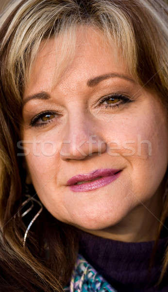 Aufrichtig lächelnde Frau ziemlich Lächeln Business Stock foto © ArenaCreative