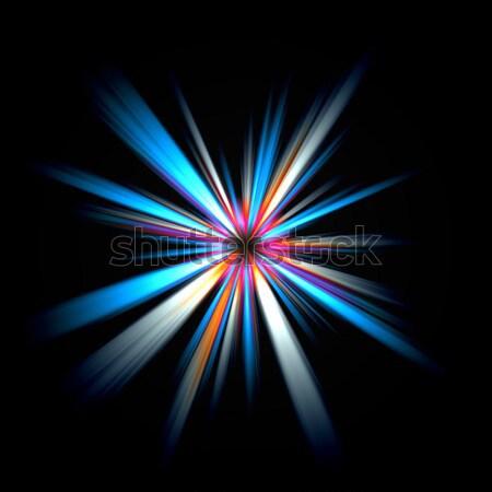 Foto stock: Abstrato · ilustração · colorido · sol