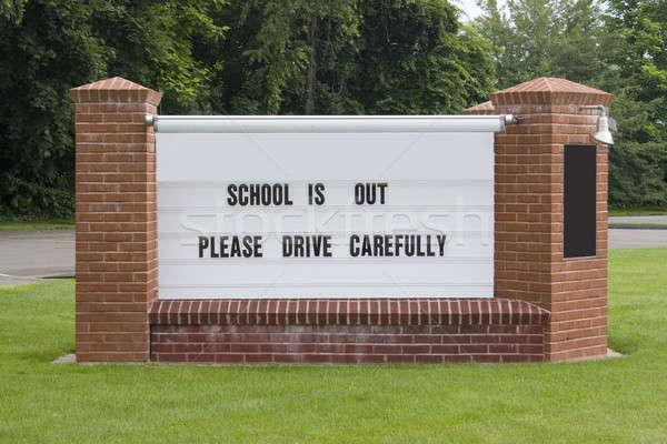 Drive Carefully Sign Stock photo © ArenaCreative