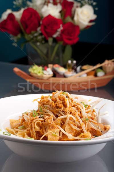 タイ料理 ぱりぱり ヌードル サラダ タイ 皿 ストックフォト © ArenaCreative