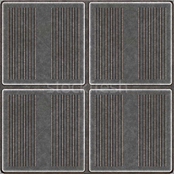 Seamless Metal Tiles Stock photo © ArenaCreative