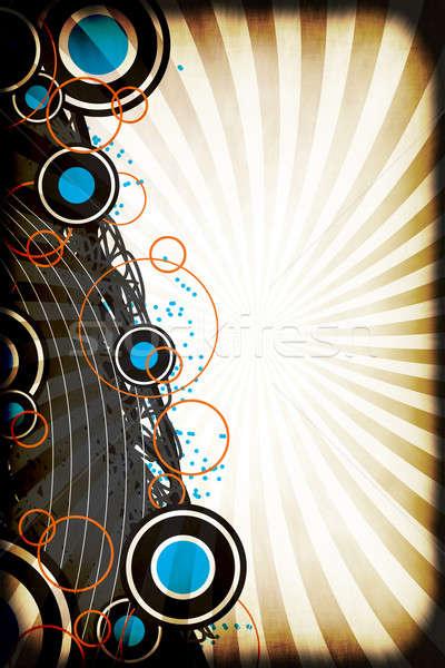 Vintage Retro Circles Layout Stock photo © ArenaCreative