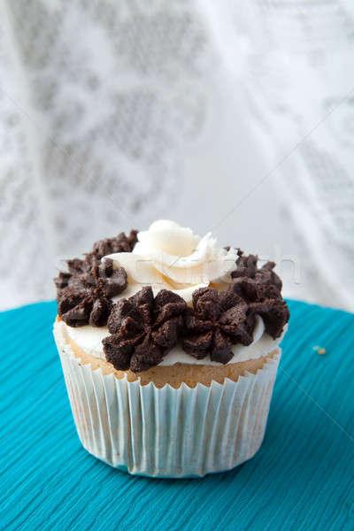 Single Gourmet Cupcake Stock photo © arenacreative