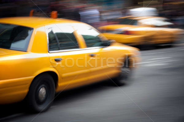 Stockfoto: Geel · taxi · abstract · straat