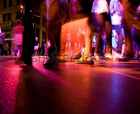 Danse club faible coup piste de danse personnes Photo stock © ArenaCreative