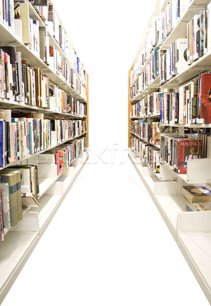 Isolated Library Shelves Stock photo © ArenaCreative