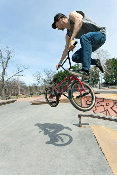 BMX Rider Jumping Stock photo © arenacreative