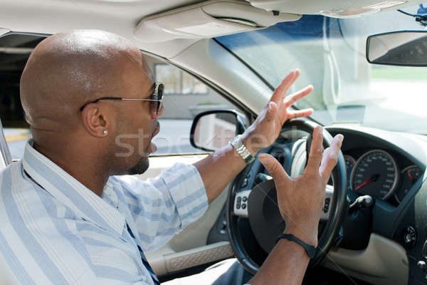 Angry Man Experiencing Road Rage Stock photo © ArenaCreative