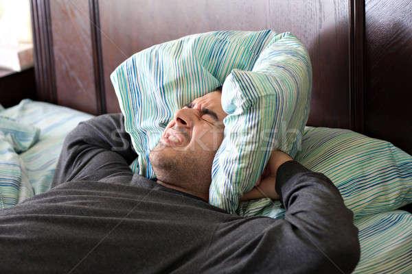 Man Having Trouble Sleeping Stock photo © ArenaCreative