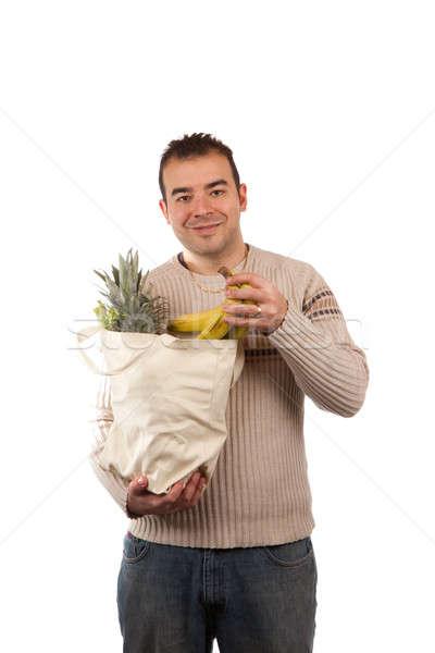 Man Holding Grocery Items Stock photo © ArenaCreative