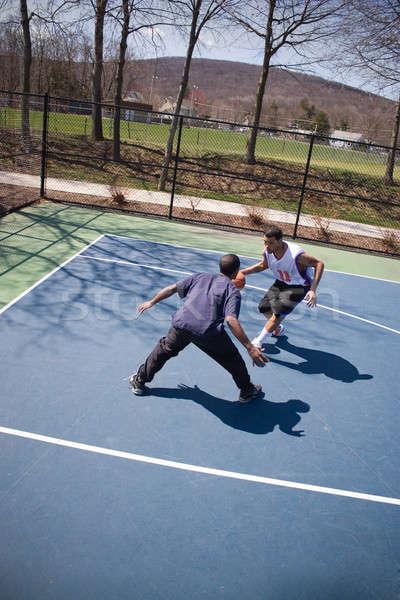 Guys Playing Basketball Stock photo © ArenaCreative