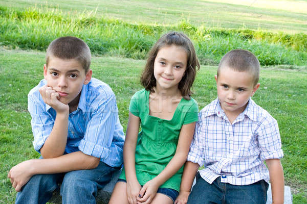 Three Bored Kids Stock photo © ArenaCreative