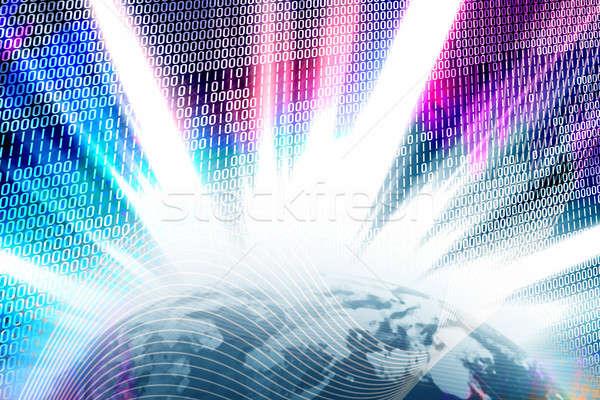 двоичный всемирная паутина мира аннотация двоичный код солнечной Сток-фото © ArenaCreative
