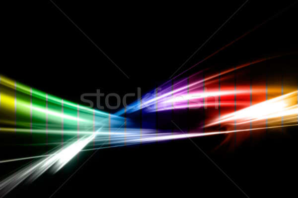 Gökkuşağı fraktal soyut örnek renk yalıtılmış Stok fotoğraf © ArenaCreative