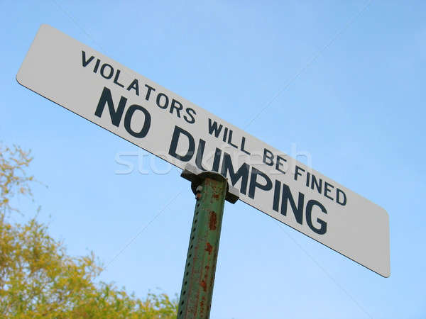no dumping Stock photo © ArenaCreative