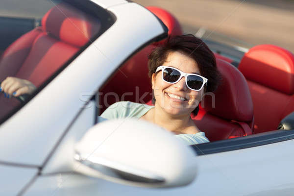 Woman Driving a Convertible Stock photo © arenacreative