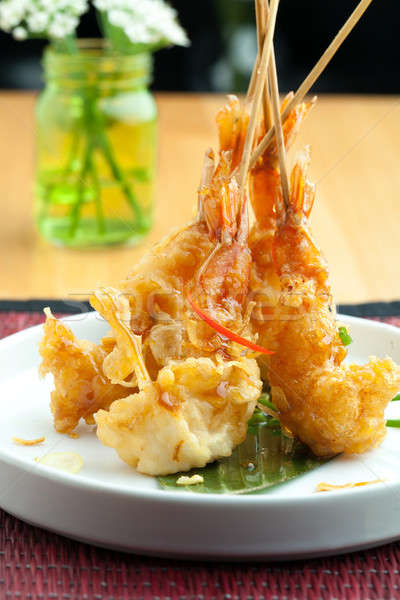 Thai Tempura Shrimp Skewers Stock photo © arenacreative