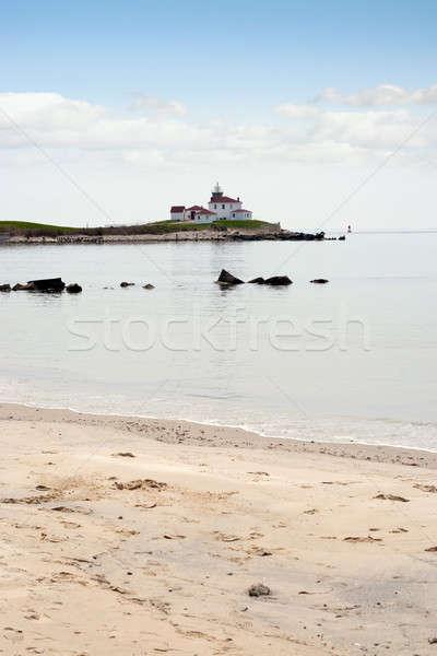 Izlemek tepe Rhode Island plaj deniz feneri Stok fotoğraf © ArenaCreative