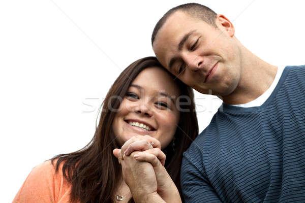занято пару , держась за руки молодые счастливым Сток-фото © ArenaCreative