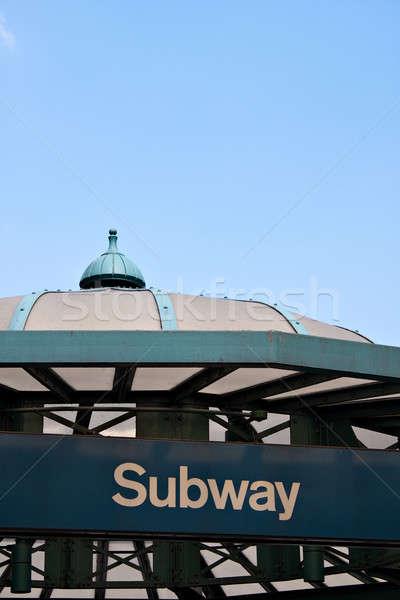 Union carré métro entrée détail Photo stock © ArenaCreative