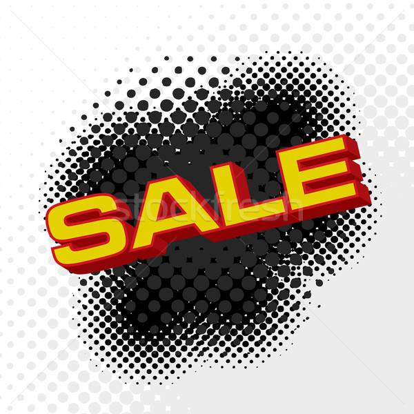 продажи знак розничной полутоновой эффект Сток-фото © ArenaCreative