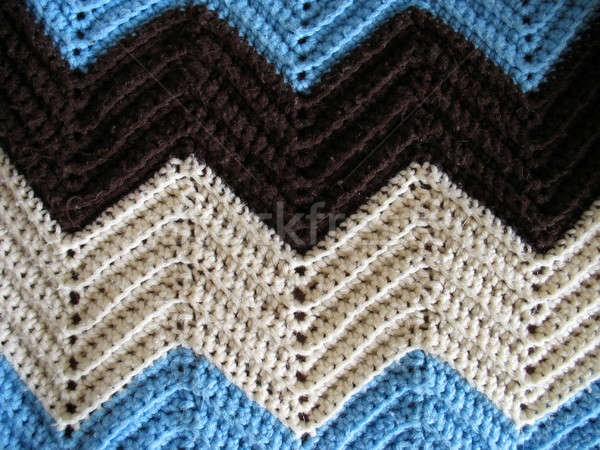 Knitted Afghan Pattern Stock photo © ArenaCreative