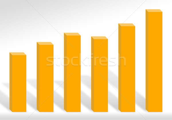 利益 グラフ 3D 実例 利益 ストックフォト © ArenaCreative
