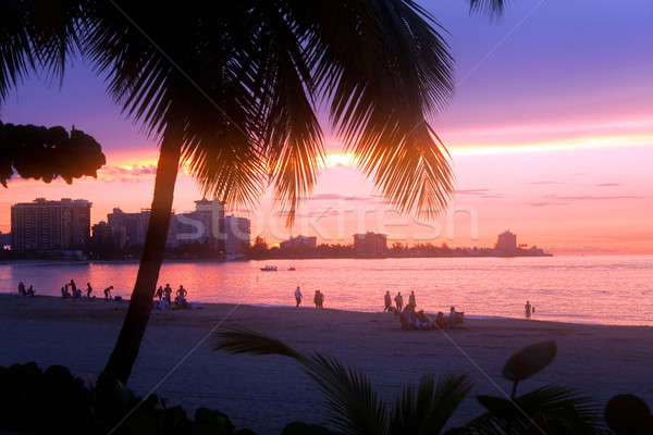 Isla Verde Puerto Rico Sunset Stock photo © ArenaCreative