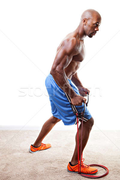 Resistance Band Workout Stock photo © ArenaCreative