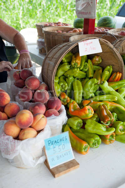 Mercado venta granja stand Foto stock © arenacreative