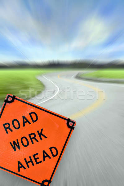 Road Work Ahead Concept Stock photo © ArenaCreative