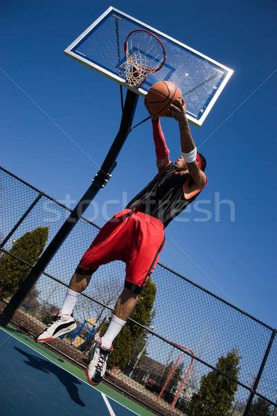 Man Playing Basketball Stock photo © ArenaCreative