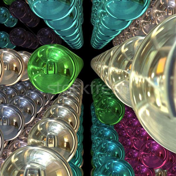 3D krom küreler uzay Stok fotoğraf © ArenaCreative