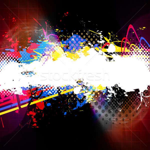 塗料 スプラッタ レイアウト 抽象的な テクスチャ コピースペース ストックフォト © ArenaCreative