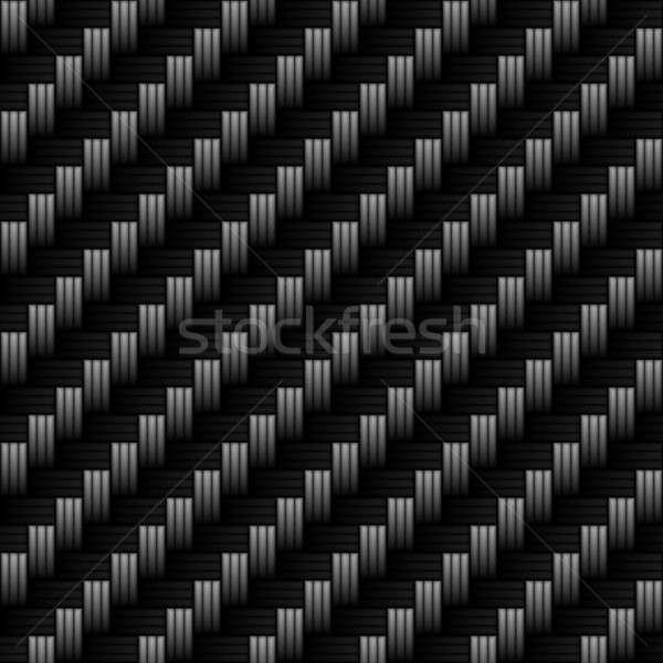Fibra de carbono realista textura azulejos padrão moderno Foto stock © ArenaCreative