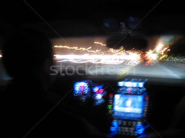 Gece sürücü ışık modern lüks araç Stok fotoğraf © ArenaCreative