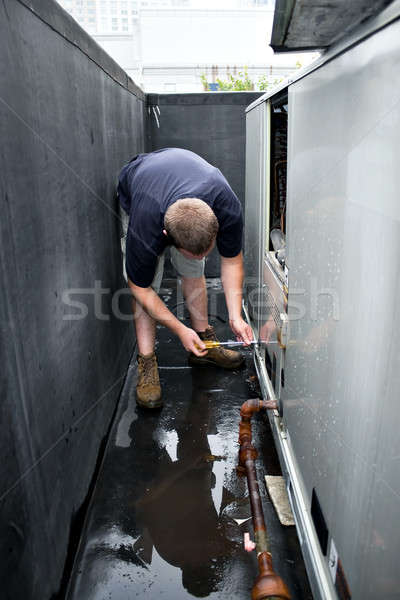 HVAC Technician Working Stock photo © arenacreative
