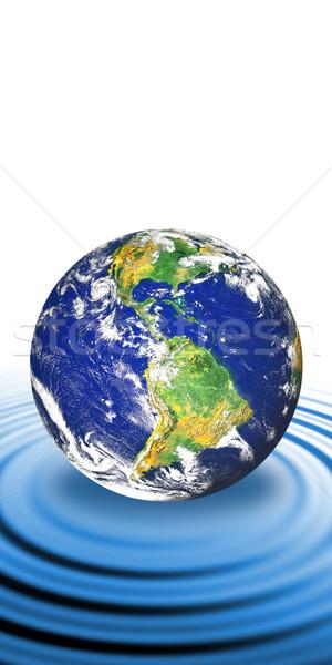 Terra pianeta terra blu acqua Foto d'archivio © ArenaCreative