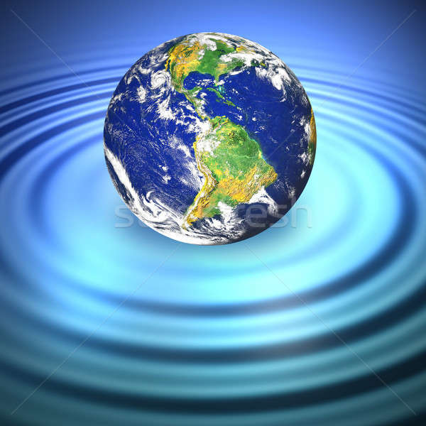 Floating Earth Stock photo © ArenaCreative